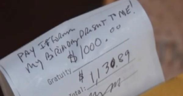 $1000 tip