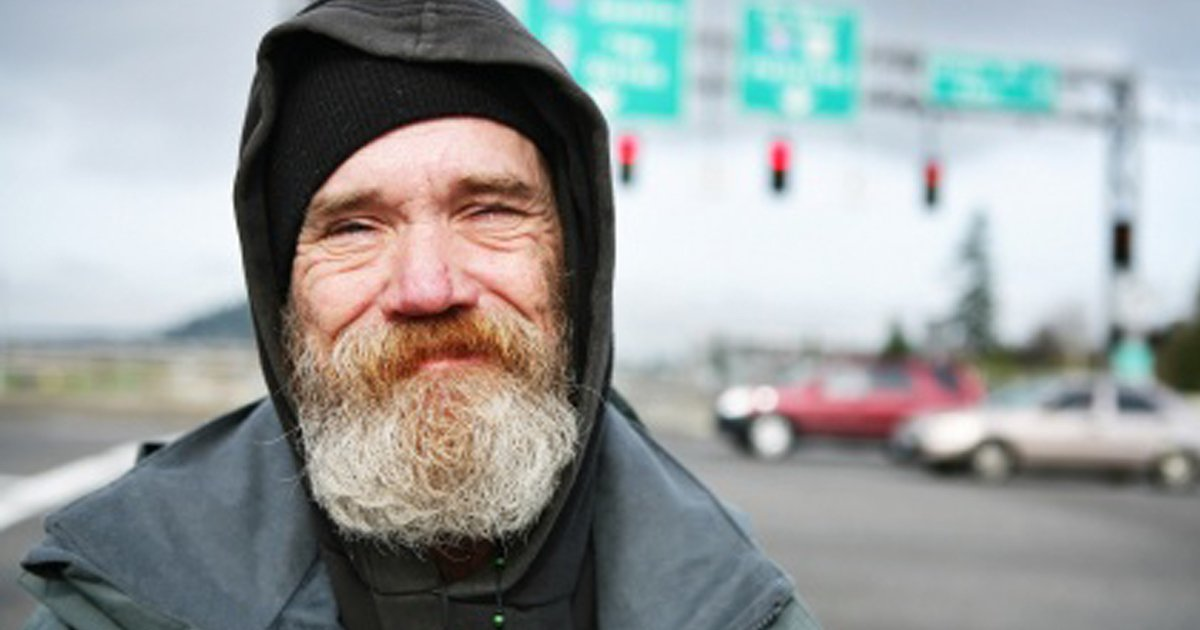 Image result for homeless person smiling