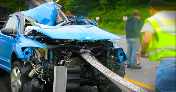 This Horrific Car Wreck Looks Deadly. But Divine Intervention Saved the Driver's Life!
