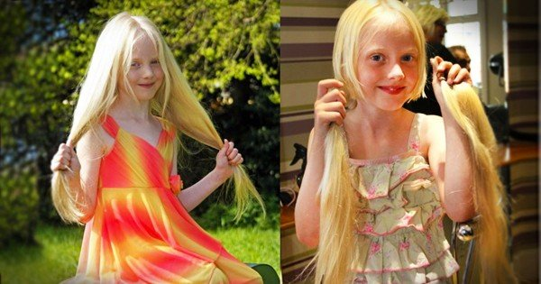 When You Find Out Why This 6 Year Old Girl Cut Off 2-Feet of Hair…You'll Be Grabbing The Tissues