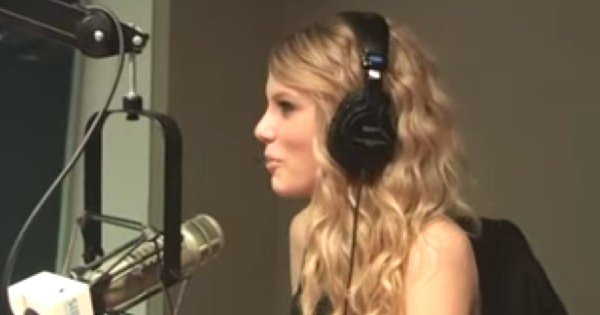 Taylor Swift doing a radio interview