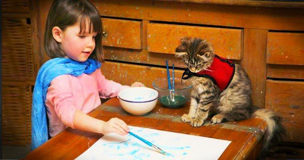 This Little Girl With Autism Has A VERY Special Bond With Her Kitty! And It Is Heart Melting!