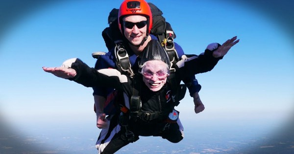 My Heart Skipped A Beat When This 84-Year-Old Jumped Out of a Plane. Why She Did It Is The Best Part!