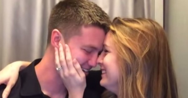 Wife's Pregnancy Surprise Brought Her Husband To Tears In Photo Booth