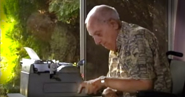 Elderly Man Living With Cerebral Palsy Makes Typewriter Art
