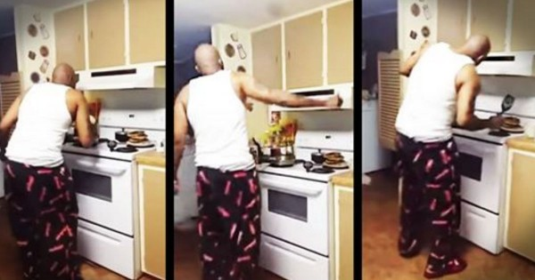 Hilarious Dancing Dad Making Pancakes