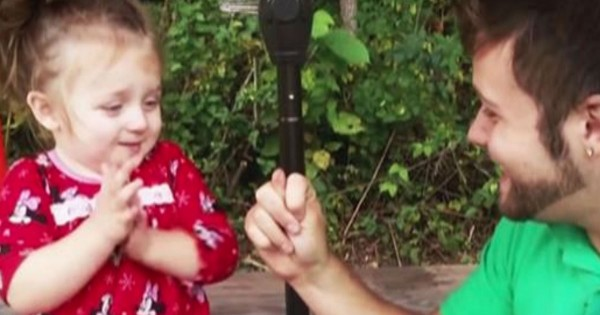 Dad Stole His Daughter's Nose And Her Reaction Is Priceless