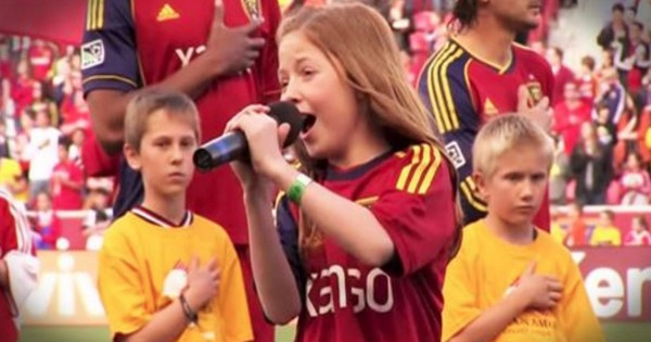 12-Year-Old Lexi Walker Sings The National Anthem