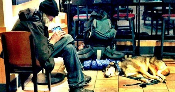 A Homeless Man And His Dog Sat Down In Starbucks. What Happened Next Had Me Saying AMEN Thru My Tears!