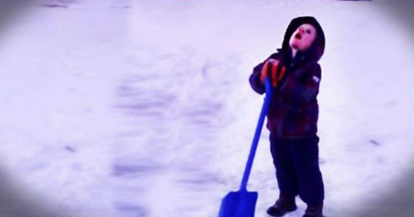 Little Boy Was Done With Shoveling Snow And Asks Jesus For Help