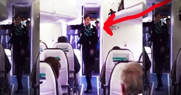 This Flight Attendant Brightened Weary Travelers' Day By Getting FUNKY. And You're Gonna Love IT!
