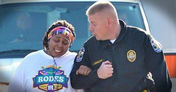She Was Struggling And Didn't Think She Could Go On. But Then A Kind Officer Did THIS–Tears!