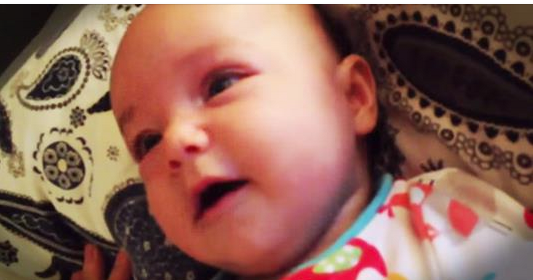 4 Month Old Baby Sings Amazing Grace With Her Daddy