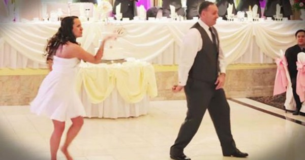 Dad Cuts In During A Bride And Groom's Dance