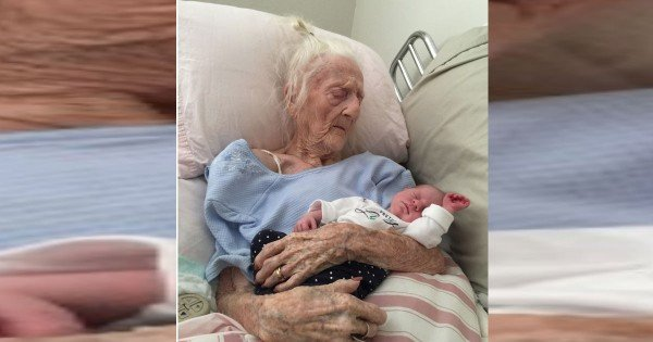 101 Year Old Great Grandmother Held 2 Week Old Baby for the Last Time
