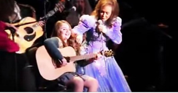 Loretta Lynn's 11-Year-Old Granddaughter Sings 'If I Die Young' On Stage