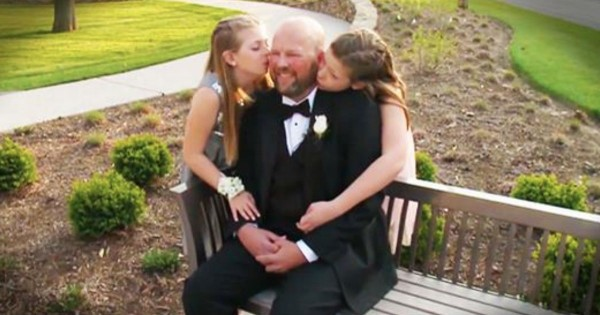 Daughters Have A Sweet Date With Their Dad Who Has A Brain Tumor