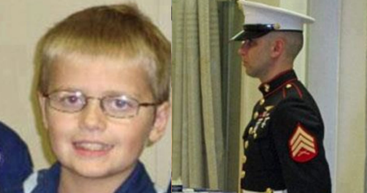 Marine Guards 12 Year Old Cody's Hospital Room Leukemia