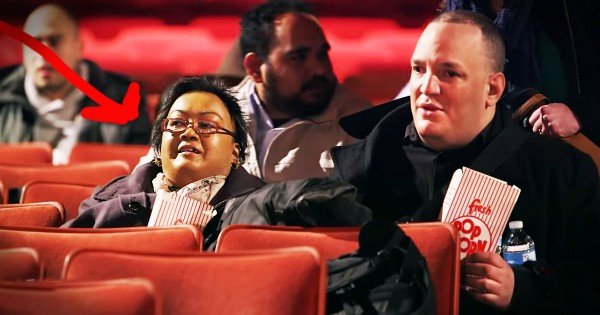 Couple Surprised At The Movies After Cancer Postponed Their Wedding