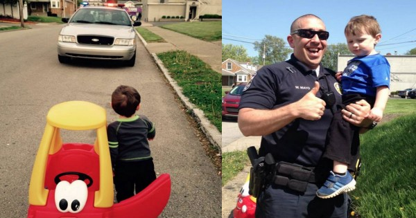 Police Officer Pulls Over 2-Year-Old In Toy Car