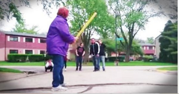 They Asked Grandma To Take The Bat. What She Did Dropped Them To Their Knees!