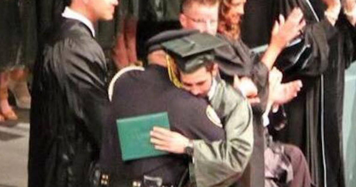 Cop Who Told Student His Parents Were Killed Hugs Him at Graduation