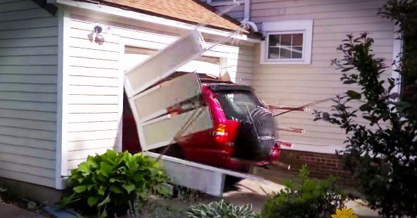 91-Year-Old Crashes Thru Garage Door For Bucket List
