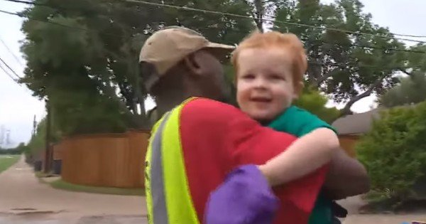 2-Year-Old Says Goodbye To His Friend, The Garbage Man