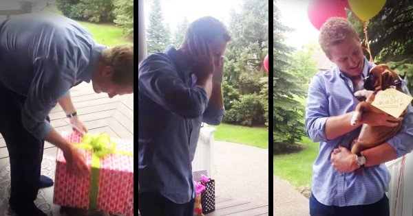 This Surprise? Only The Best Day Of His Life. . . In A Box!