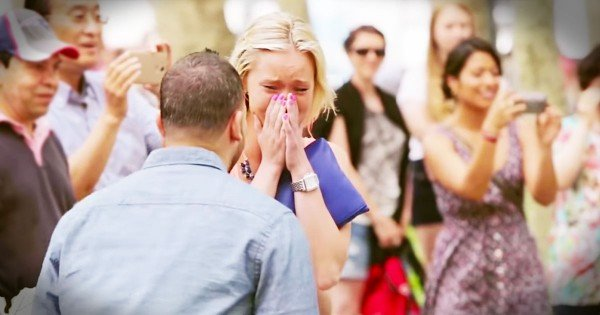 Emotional Flash Mob Marriage Proposal in New York City
