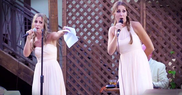 Sisters Of The Bride Make Amazing Musical Wedding Toast