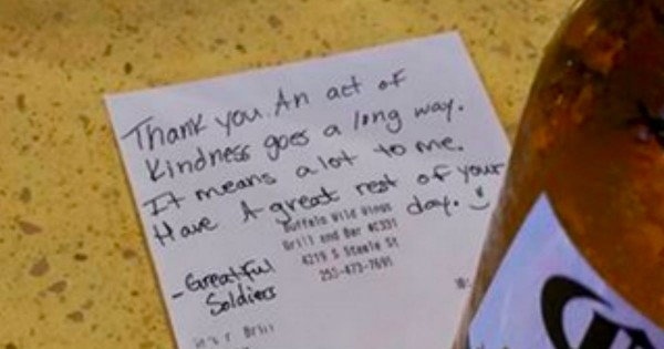 Bartender Helps A Grieving Woman Honor A Fallen Soldier