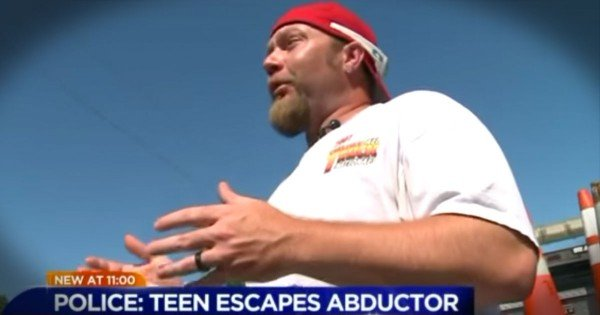 Construction Worker Saves Teen From Kidnapper