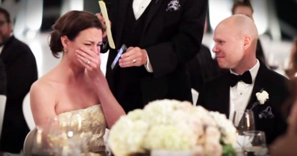 Grandfather Surprises Bride With Wedding Toast Over The Phone