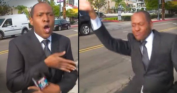News Reporter Dances During Commercial Break