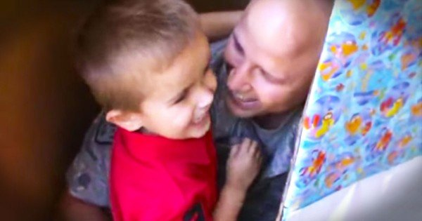 Airman Surprises His Son On His Birthday