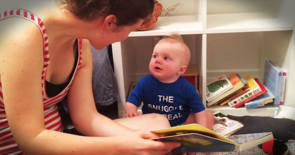 Baby Boy Just Can't Bear His Favorite Book Ending