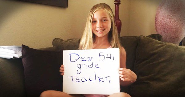 She Needed To Tell Her Teacher 1 Thing. And How She Did It…Powerful!