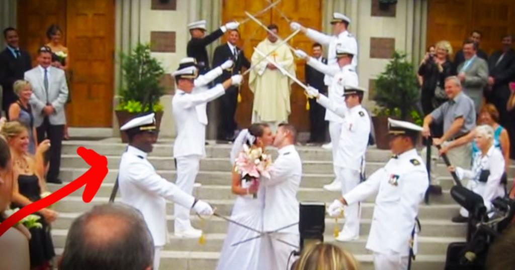 jd-godvine-navy sword arch wedding-fB
