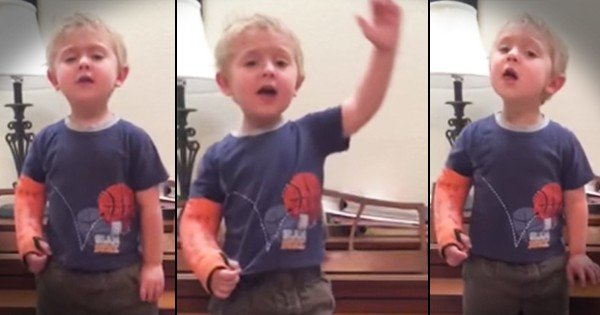 Toddler Sings 'Do You Hear The People Sing' from Les Mis