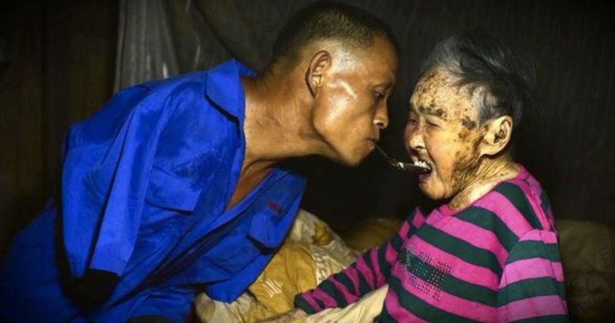 Farmer With No Arms Cares For Sick Mom