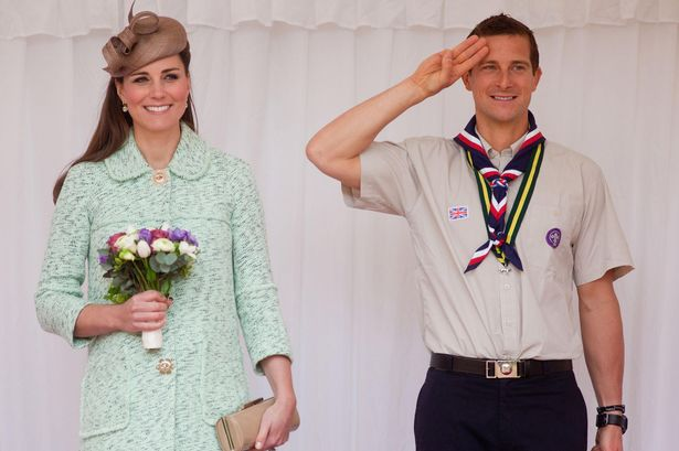 Bear Grylls with Kate Middleton