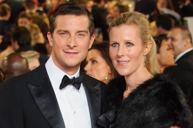 Bear Grylls with Wife Shara Grylls