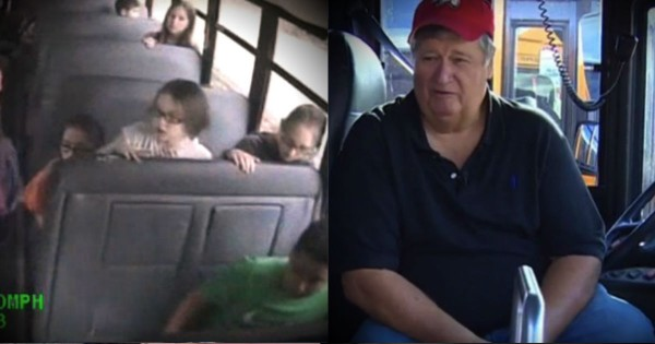 School Bus Driver Saves The Day When Students Are Threatened