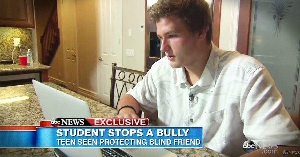 Teenager Stops Bully From Beating Up Blind Student
