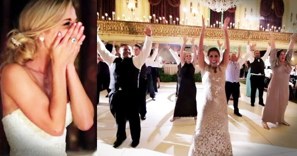The Bride And Groom Just Got The BEST Surprise…A Flash Mob!