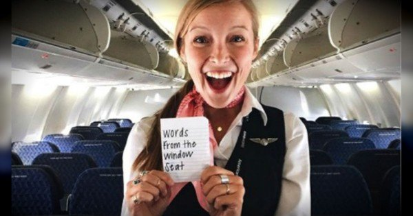 This Flight Attendant Is Bringing The Smiles…1 Inspirational Message At A Time.