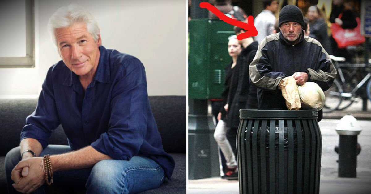 Image result for richard gere homeless