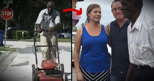 83-Year-Old Man Who Walks Miles To Mow Lawns Gets Huge Surprise