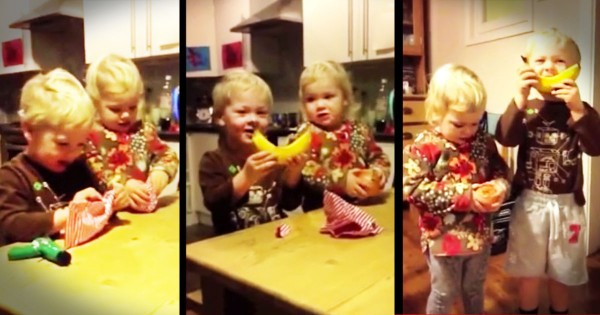 Dad Gives His Kids Ordinary Foods Disguised As Christmas Presents